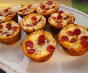 pizza, cupcake, and pizza cupcakes image