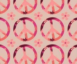 peace, pink, and flowers image