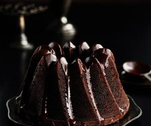 cake, chocolate, and dark image