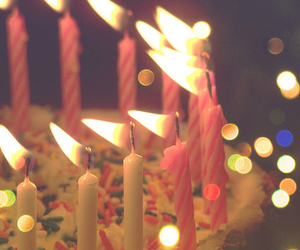 birthday, cake, and candle image