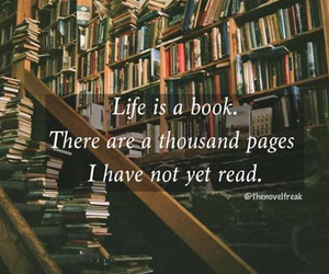bibliophile, black and white, and books image