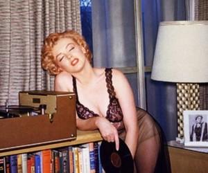 Marilyn Monroe and vinyl image