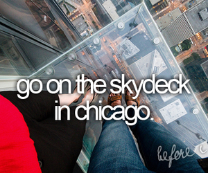 chicago, skydeck, and bucket list image