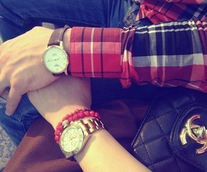 chanel, couple, and watch image