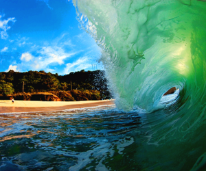 beach, waves, and water image