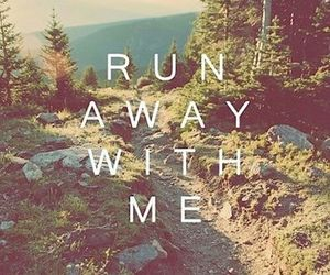 run, away, and nature image