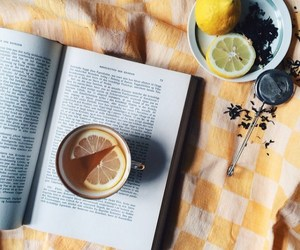 reading, tea, and love image