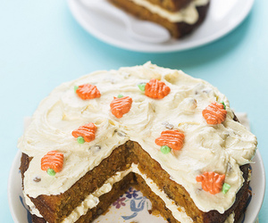 cake, carrot cake, and dessert image