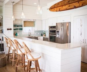 kitchen, white, and modern image