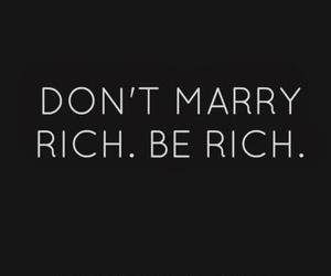 quote, rich, and life image
