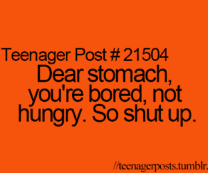 hungry, quote, and bored image