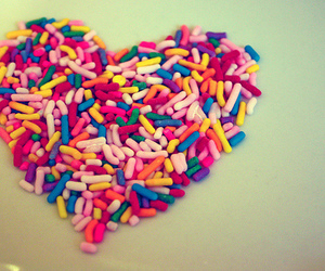 heart, love, and sprinkles image