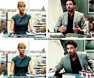 gwyneth paltrow, iron man, and tony stark image