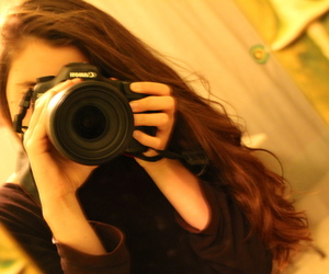 brown, brown hair, and canon image