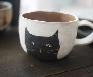 cat, cup, and art image