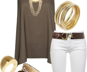 outfit, white, and clothes image