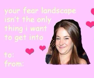 funny, Shailene Woodley, and valentines card image