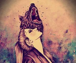 wolf and draw image
