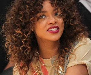 curly hair, ombre, and rihanna image