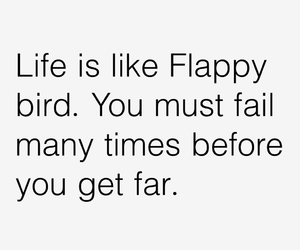 life, flappy bird, and fail image