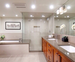 bathroom, luxury, and mansion image