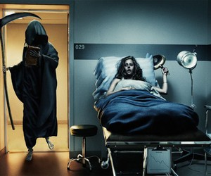 death, funny, and hospital image