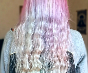 colorful hair, dyed hair, and girly image