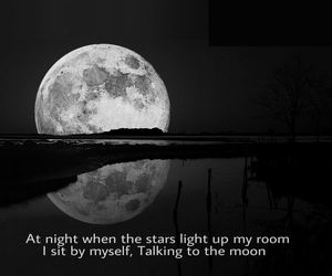 alone, black and white, and dark sky image