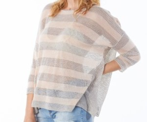 striped sweater, festival wear, and open weave sweater image