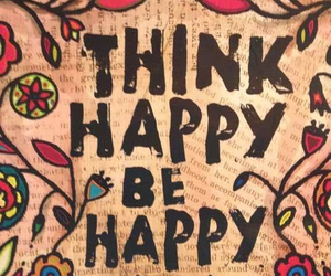 be, happy, and think image