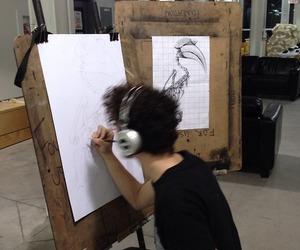 art, drawing, and Hot image