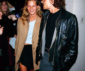 kate moss, johnny depp, and model image