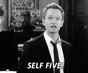 how i met your mother, self five, and himym image
