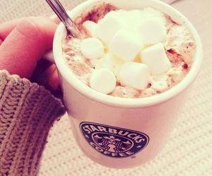starbucks, marshmallow, and coffee image