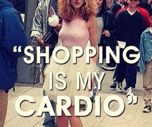 shopping, cardio, and funny image