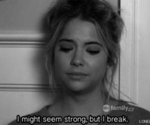 pretty little liars, strong, and sad image