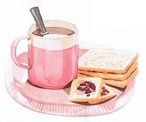 coffee, art, and breakfast image