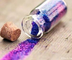 glitter, purple, and magic image