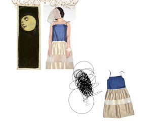 clothes, moon, and dresses image