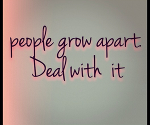 quote and people grow apart image