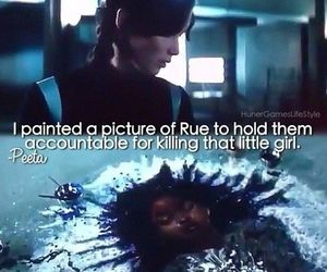 rue, katniss, and catching fire image