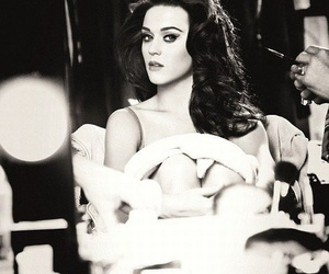 katy perry, beautiful, and black and white image