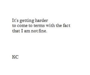 quote, broken, and depressed image