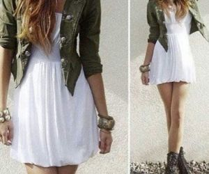 dress, boots, and fashion image