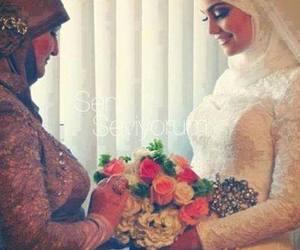 hijab and bride image