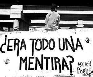 accion poetica, mentira, and frases image