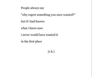 love quotes, quote, and regret image