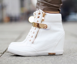 shoes, white, and luxury image