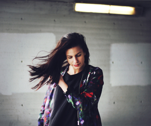 brunette, flowers, and hair image