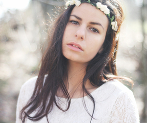 dress, flower crown, and spring image